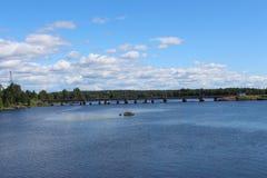 Järnvägsbro i Vyborg Royaltyfria Bilder