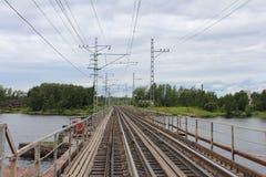 Järnvägsbro i Vyborg Royaltyfri Bild