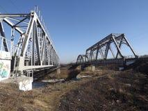 Järnvägsbroar royaltyfri fotografi