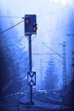järnvägsignalering Arkivbild