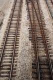 järnvägspår Arkivbild