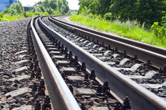 järnvägspår Royaltyfri Fotografi
