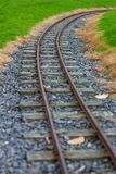 Järnvägspår för smalt mått i Agnew parkerar, Stranraer, Skottland, Förenade kungariket arkivfoton