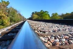 Järnvägspår - Illinois Arkivbild