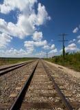 Järnvägspår & telegraflinjer Royaltyfri Fotografi