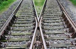 Järnvägsspår Fotografering för Bildbyråer