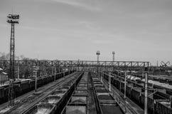 Järnvägsspår Arkivfoton