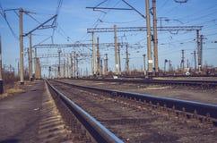 Järnvägsspår royaltyfri bild