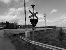 Järnvägsspår BW Fotografering för Bildbyråer
