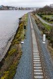 Järnvägsspår Derry Northern Ireland Arkivbilder