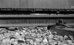 Järnvägsspår från året 1891 royaltyfria bilder