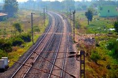Järnvägsspår i Indien Royaltyfri Bild
