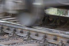 Järnvägsspår järnvägpointwork för snabb stång royaltyfri fotografi