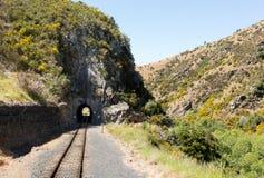 Järnvägsspår upp den Taieri klyftan Nya Zeeland Royaltyfria Bilder