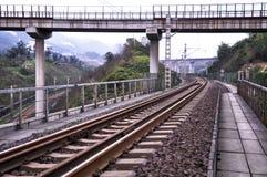 Järnvägsspåren Arkivfoton