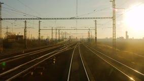 Järnvägsspårrörelse lager videofilmer