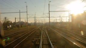 Järnvägsspårrörelse arkivfilmer