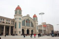 Järnvägsstation Arkivbild