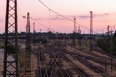 Järnvägsstation Royaltyfri Bild