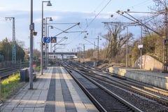 Järnvägsstation fotografering för bildbyråer