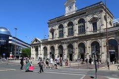 Järnvägsstation av Lille, Frankrike Arkivbild