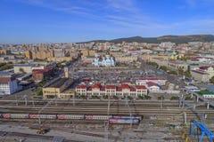 Järnvägsstation Chita Arkivbild