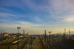 Järnvägsstation för Basel SBB i Schweiz Royaltyfria Foton