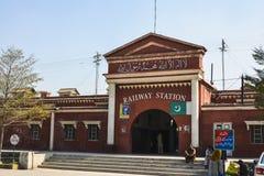 Järnvägsstation Faisalabad royaltyfri foto