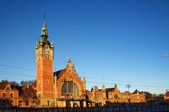 Järnvägsstation Gdansk royaltyfri foto