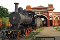 Järnvägsstation Granada, Nicaragua Royaltyfria Foton