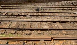 Järnvägsstation i asia HATTON, SRI LANKA - CIRCA JANUARI 15 2017 Royaltyfri Fotografi