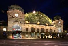 Järnvägsstation i Basel switzerland Royaltyfri Bild