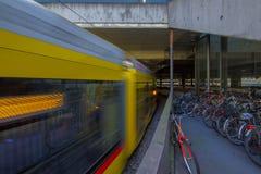 Järnvägsstation i Basel switzerland Arkivbild