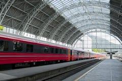 Järnvägsstation i Bergen, Norge Fotografering för Bildbyråer