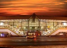 Järnvägsstation i Minsk (Vitryssland) Arkivfoto