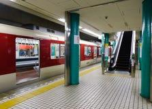 Järnvägsstation i Osaka, Japan Royaltyfria Bilder
