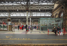 Järnvägsstation i Preston royaltyfri foto