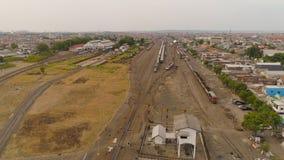 Järnvägsstation i Surabaya Indonesien arkivbild