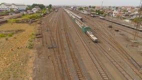 Järnvägsstation i Surabaya Indonesien arkivfoton