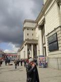 Järnvägsstation i Ukraina Royaltyfria Bilder