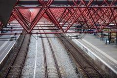 Järnvägsstation i Zaandam Arkivfoton
