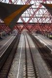 Järnvägsstation i Zaandam Arkivbild