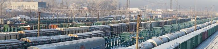 Järnvägsstation Irkutsk Fotografering för Bildbyråer