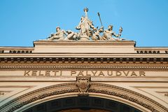 Järnvägsstation Keleti i Budapest Royaltyfria Foton