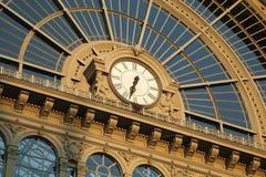 Järnvägsstation Keleti i Budapest Royaltyfria Bilder