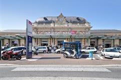 Järnvägsstation Nice, Frankrike Fotografering för Bildbyråer
