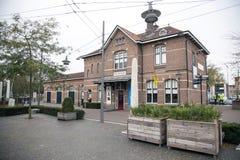 Järnvägsstation och museum i Ede arkivbilder