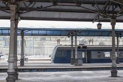 Järnvägsstation på Moskva med drevet royaltyfria foton