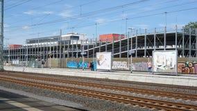 Järnvägsstation Troisdorf royaltyfri fotografi