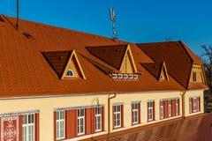 Järnvägsstation - Uhersky Brod, Tjeckien Royaltyfri Foto